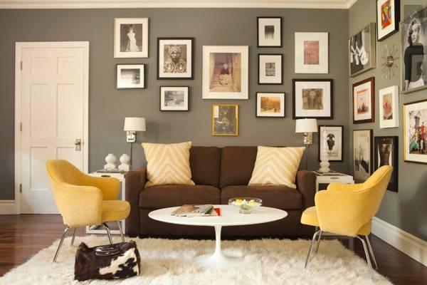 Как можно декорировать стены с фотографиями в рамках