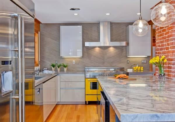 Дизайн кухни серого цвета в интерьере