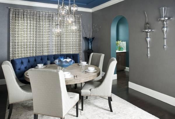 Роскошные цвета сочетающиеся с серым в интерьере - фото