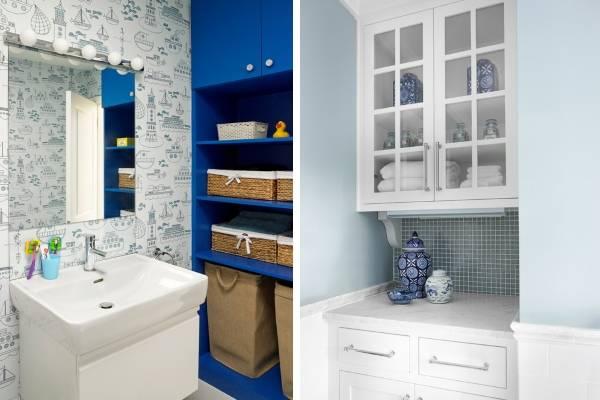 Буфет в стиле прованс в дизайне ванной комнаты