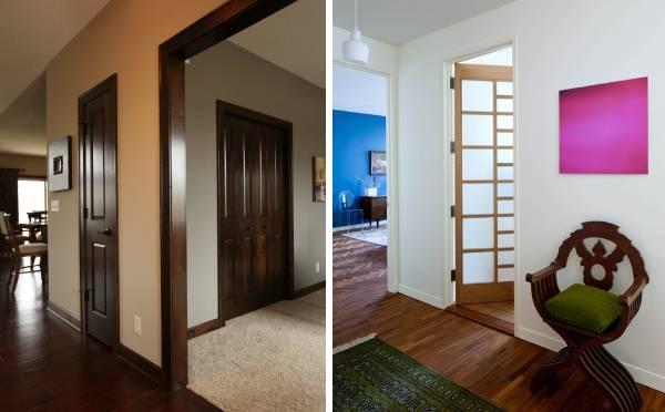 Темные полы и двери в современном интерьере