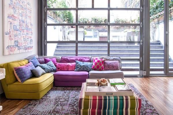 Мебельные ткани - фото 2016 в интерьере в стиле лофт