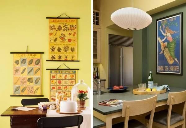 Как украсить стены на кухне - фото идей