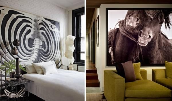 Как украсить пустые стены интерьера с фотографиями