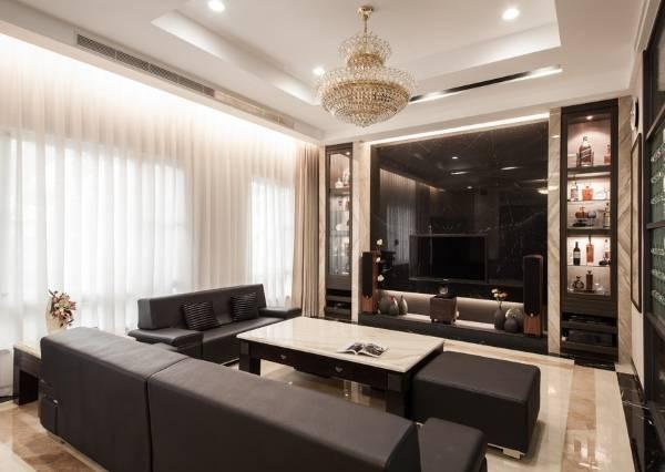 Встроенные витрины для гостиной - лучшие фото