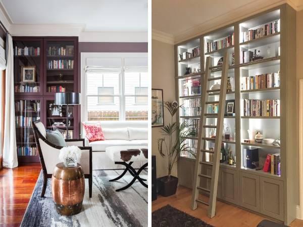 Мебель для гостиной - витрины на фото