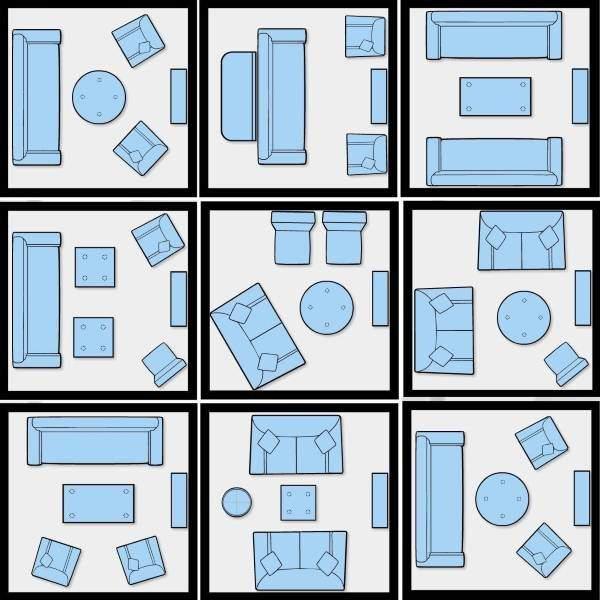 Как правильно расставить мебель в зале маленького размера