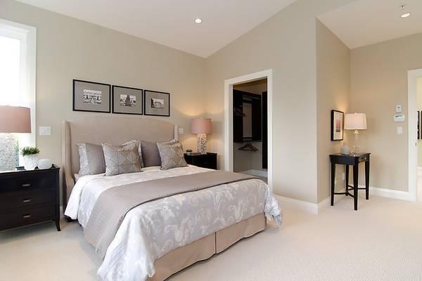 Гардеробная комната в углу спальни - фото дизайн 2016