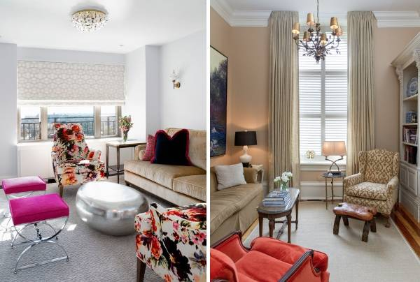 Красивое расположение мебели в гостиной - подборка идей 2016