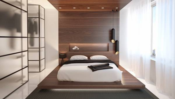 Шкаф гардеробная в маленькой спальне - современные идеи 2016