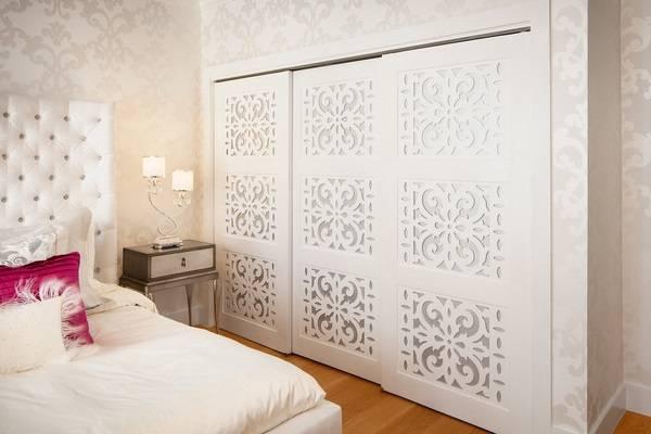 Гардеробная в спальне - фото дизайн luxury гламур 2016