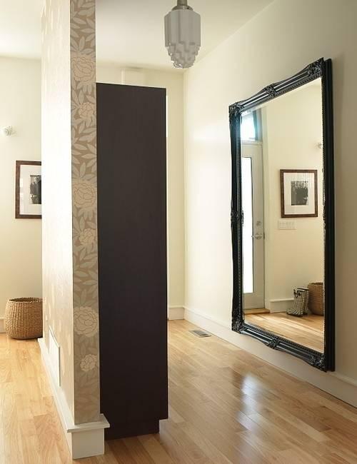 Зеркало в прихожую настенное в полный рост в рамке