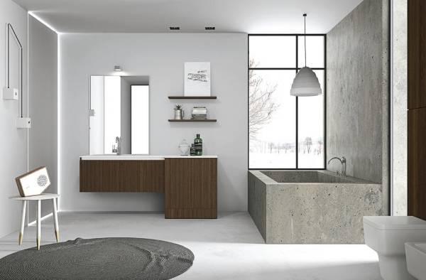 Современная мебель для ванной в стиле лофт