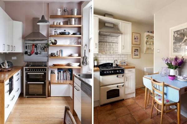 Как повесить аксессуары для рейлингов на кухню - фото в интерьере
