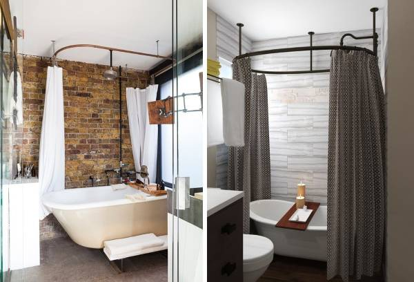 Ванная в стиле лофт - маленькая площадь на фото