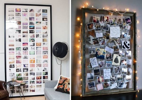 Стильная большая рамка для фотографий на стену