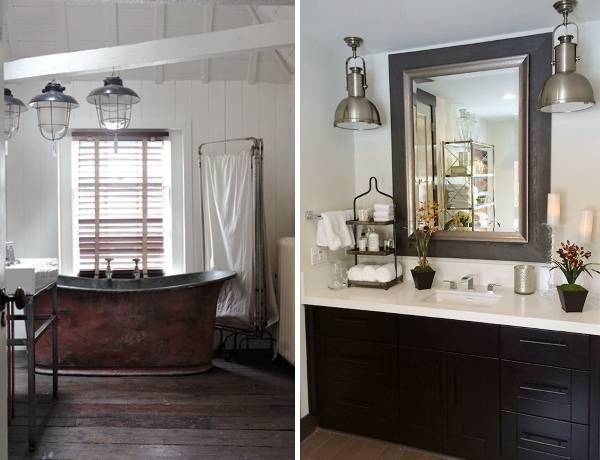 Какой может быть ванная лофт