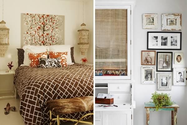 Осенний интерьер в квартире с винтажным декором