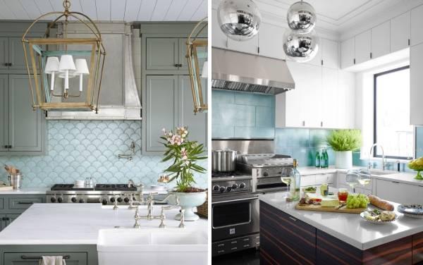 Стильные кухни в интерьере - фото современного дизайна со светильниками
