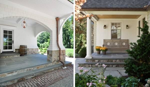 Каменная плитка для ступеней для крыльца частного дома