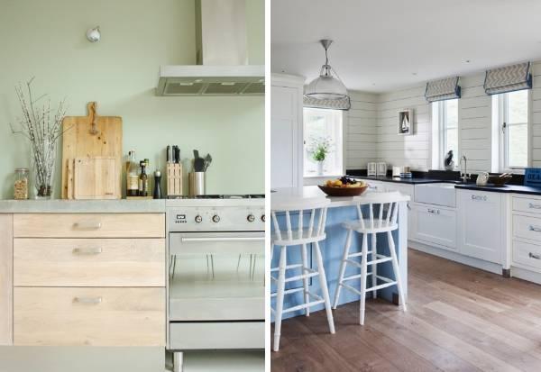 Настольная кухонная утварь из дерева - фото в интерьере