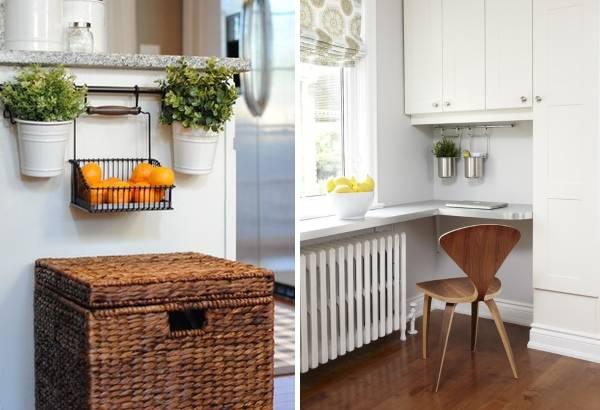 Функциональные рейлинги для кухни в интерьере