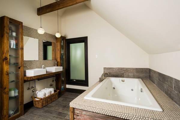 Ремонт ванной в стиле лофт - выбираем плитку