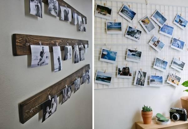 Как повесить фото на стену необычным способом