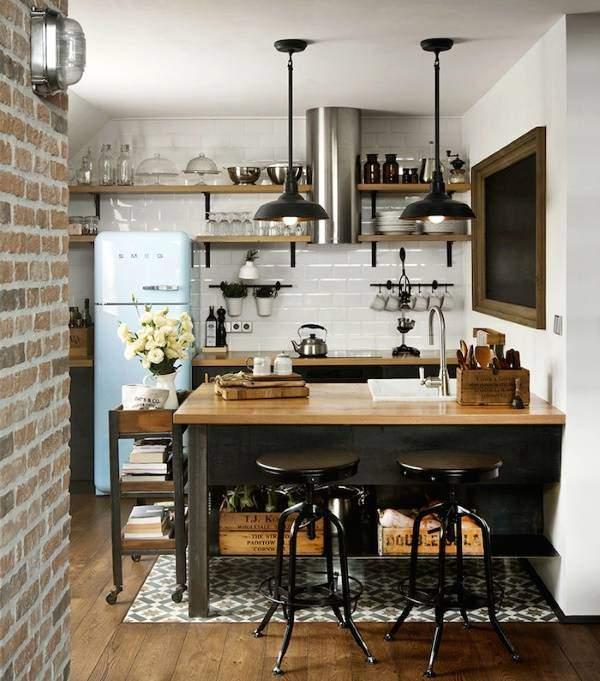 Стильные кухни фото - дизайн в стиле лофт индастриал