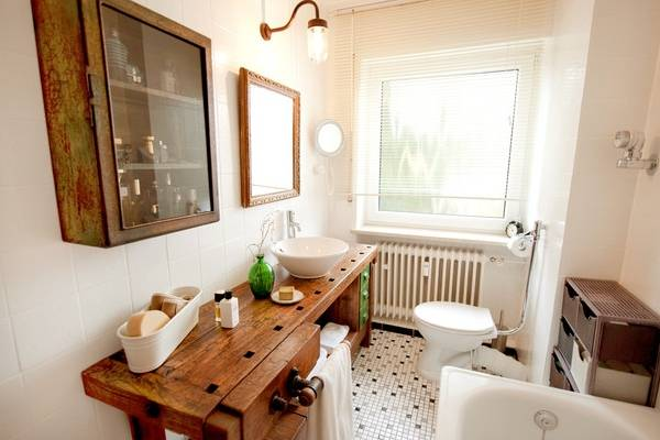 Промышленная мебель для ванной в стиле лофт