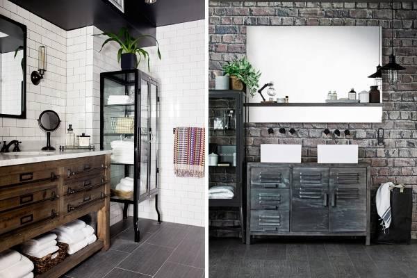 Дизайн ванной комнаты в стиле лофт - подборка фото 2016