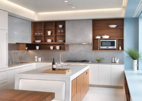 Оригинальные кухни - двухцветная мебель в современном стиле