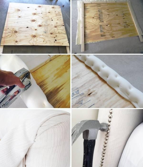 Как сделать кровать своими руками с мягким изголовьем