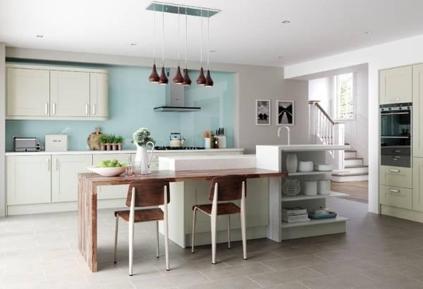Лучший дизайн кухни - фото в современном стиле с деревянными акцентами