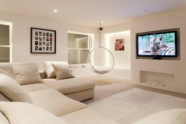 Ниша из гипсокартона под телевизор своими руками в дизайне гостиной