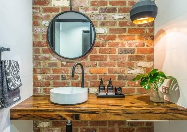 Мебель для ванной в стиле лофт под умывальник