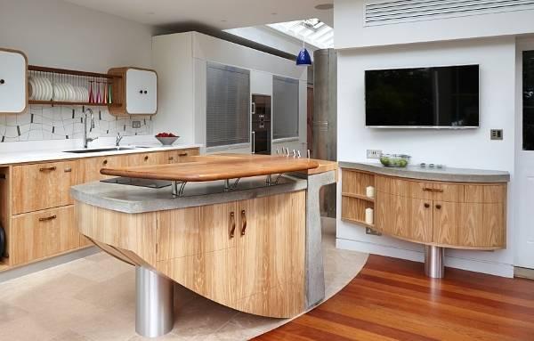 Оригинальный дизайн кухни с необычной мебелью