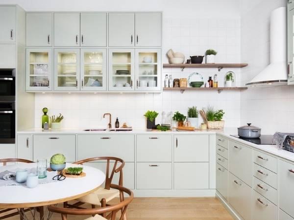 Самый красивый дизайн кухни - фото в стиле шейкер