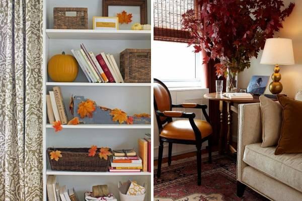 Осенние листья в интерьере - лучшие идеи