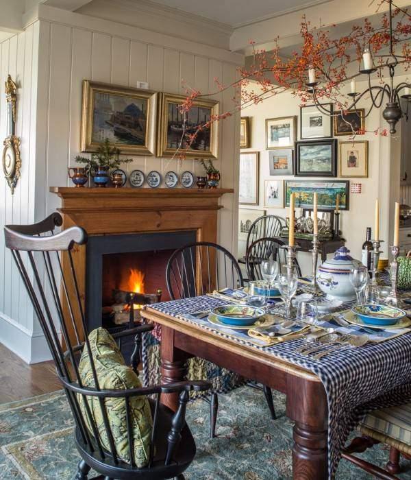 Осень в интерьере - фото кухни