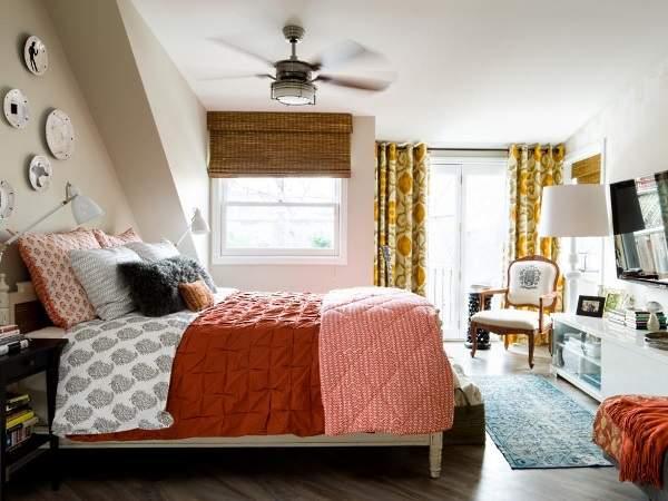 Красивый осенний интерьер дома в осенних тонах