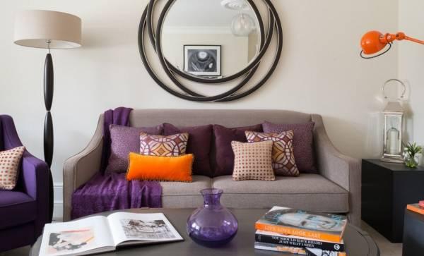 Осень в дизайне интерьера в фиолетовых тонах