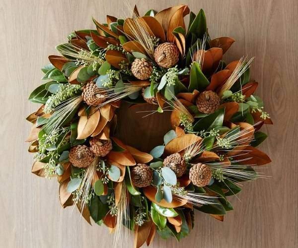Стильный венок из осенних листьев своими руками