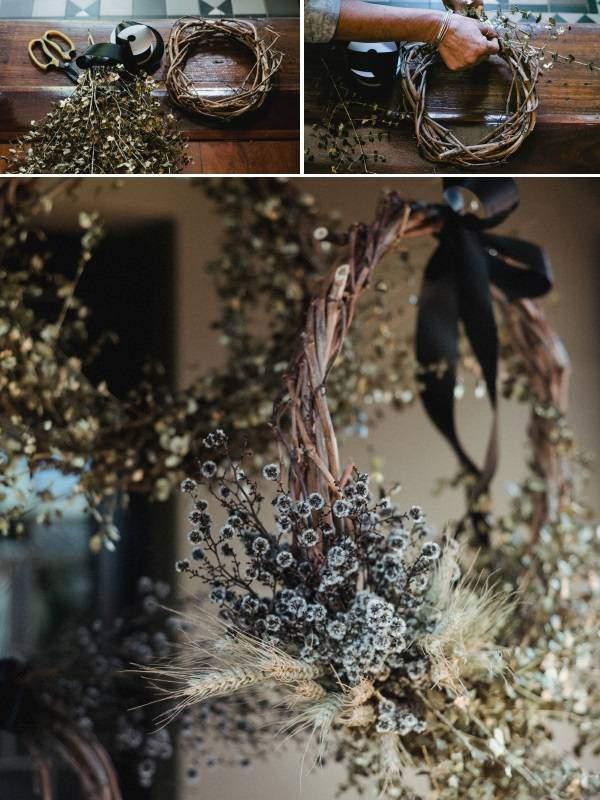 Шикарный венок из осенних листьев - фото с инструкцией