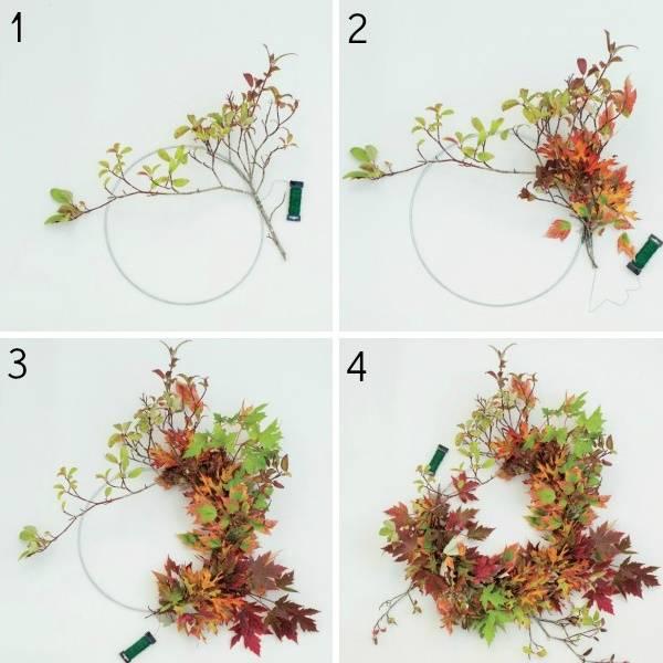 Осенний венок своими руками из природных материалов - лучшие идеи