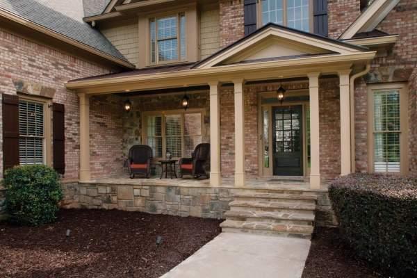 Каменное крыльцо в частном доме - варианты и фото