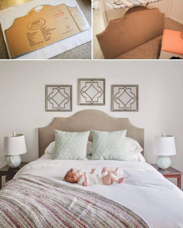 Простой способ сделать кровать своими руками с мягким изголовьем