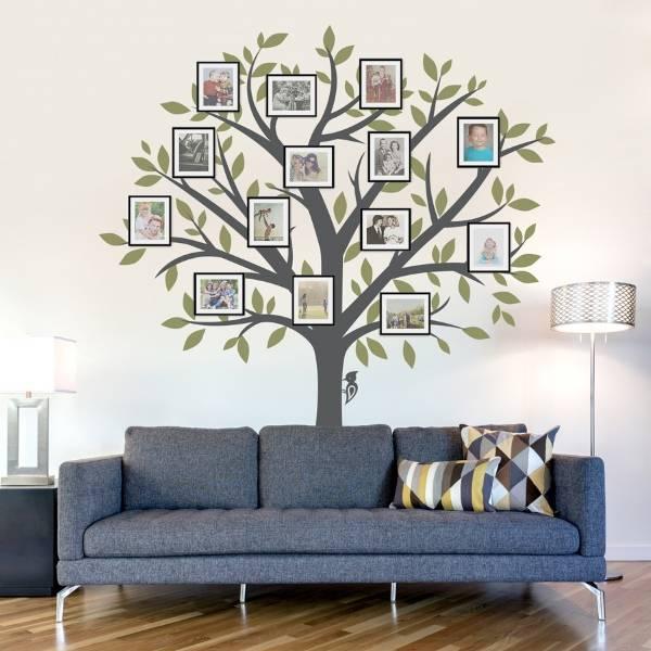 Семейное дерево - наклейка для декорирования стен