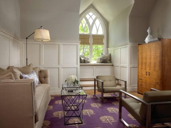 Бежевый цвет в интерьере - фото гостиной