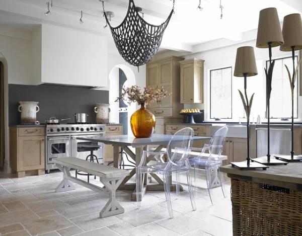 Сочетание цветов с бежевым в современном интерьере кухни